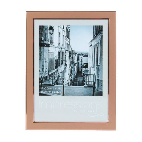 Copper Rose Gold Photo Frame 6 x 8